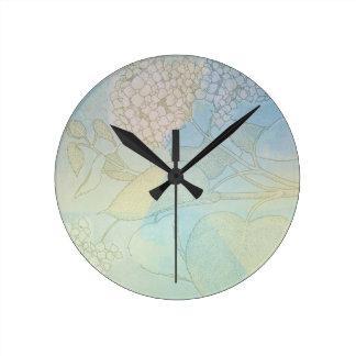 Hydrangea Series Watercolor Botanical Print II Clocks