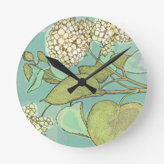Hydrangea Series Watercolor Wallclock
