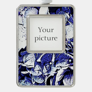 Hydrangea Silver Plated Framed Ornament