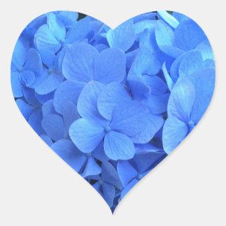 HYDRANGEA so Blue & Green - Heart Sticker