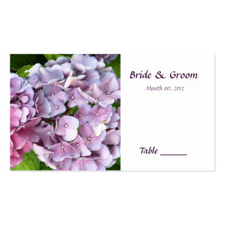 Hydrangea Table Place Card Business Card Templates
