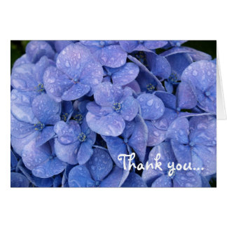 Hydrangea Thank You notecard
