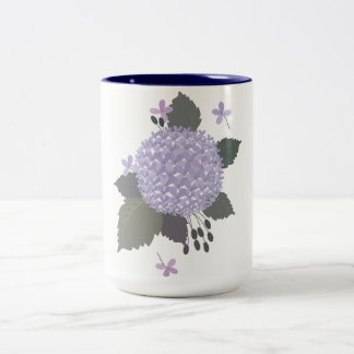 Hydrangea. Two-Tone Coffee Mug