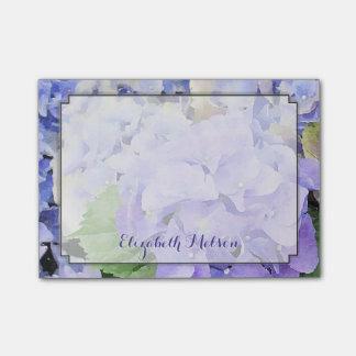 Hydrangea Watercolor Lilac & Blue Custom Post-it® Notes