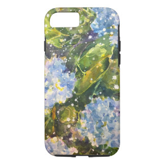 Hydrangea watercolor print phone cover