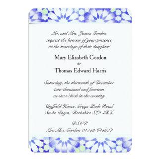 'Hydrangea' wedding invitation