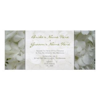 Hydrangea Wedding Invitation - From Bride Groom