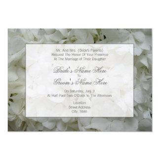 Hydrangea Wedding Invitation- From Bride's Parents 13 Cm X 18 Cm Invitation Card