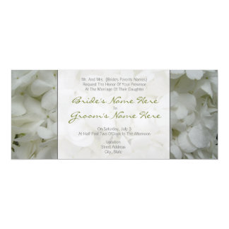 Hydrangea Wedding Invitation- From Bride's Parents Card