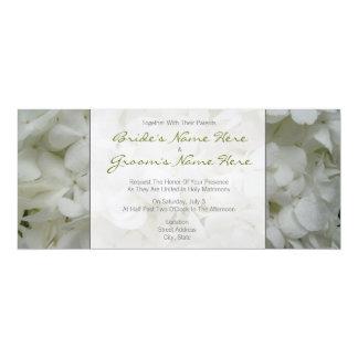 Hydrangea Wedding Invitation-Together With Parents 10 Cm X 24 Cm Invitation Card