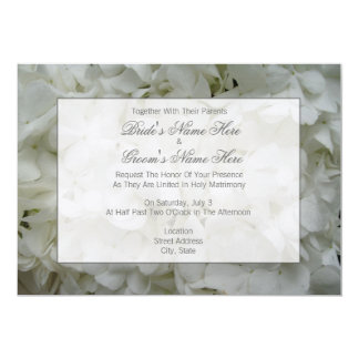 Hydrangea Wedding Invite - Together With Parents