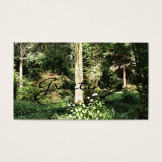 Hydrangea Wood Trees Nature Photography Business Card