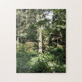 Hydrangea Wood Trees Nature Photography Jigsaw Puzzle