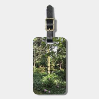 Hydrangea Wood Trees Nature Photography Luggage Tag