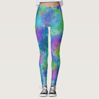Hydrangeas Abstract Leggings