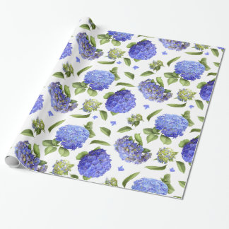 Hydrangeas All Over Wrapping Paper