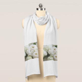 hydrangeas and ranunculus scarf