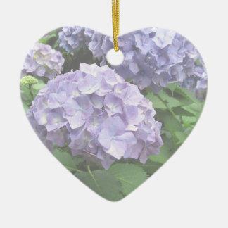 Hydrangeas at Trebah Gardens Flower Girl Wedding Ceramic Heart Decoration
