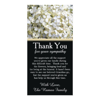 Hydrangeas Bereavement Sympathy Thank You Card Photo Greeting Card