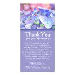 Hydrangeas Bereavement Sympathy Thank You Card Personalized Photo Card