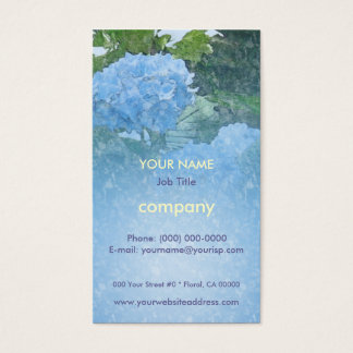 Hydrangeas Blue Profile Card