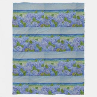 Hydrangeas By The Sea Fleece Blanket