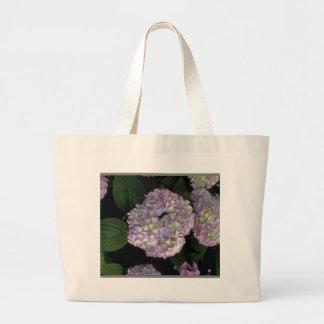 hydrangeas duffle large tote bag