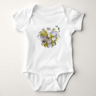 Hydrangeas in a Heart Cutout Baby Bodysuit