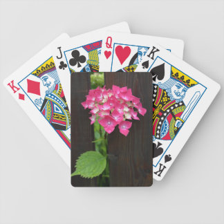 hydrangeas in bloom bicycle playing cards