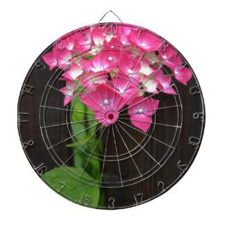 hydrangeas in bloom dartboard