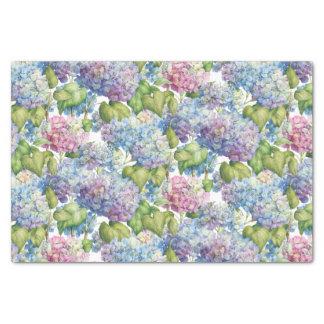 Hydrangeas in Bloom Pattern Tissue Paper