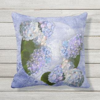 Hydrangeas Outdoor Pillow
