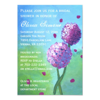 Hydrangeas Painting Bridal Shower Invitations