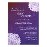 Hydrangeas Posh Plum Bridal Shower Invitations
