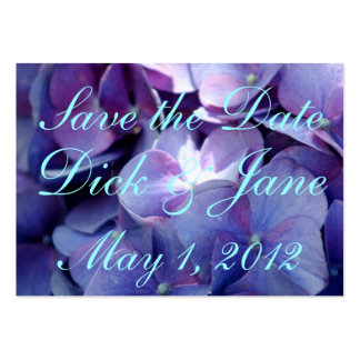 Hydrangeas Save the Date Business Card Templates