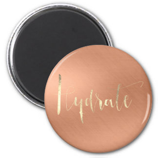 Hydrate Plants Rose Champaign Copper Gold Magnet