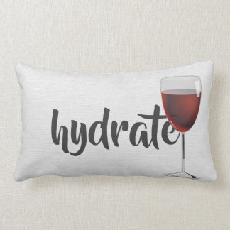 hydrate-red wine in glass lumbar cushion