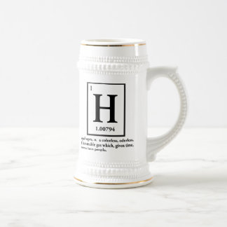 hydrogen - a gas which turns into people beer steins