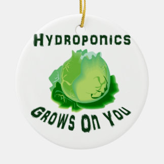Hydroponics Grows On You Lettuce Ceramic Ornament