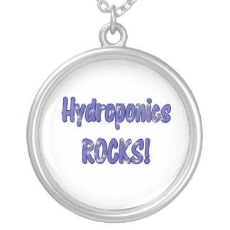 Hydroponics Rocks Text based cloud water design Pendants