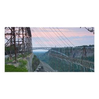 Hydropower Station on Niagara River in Canada Custom Photo Card