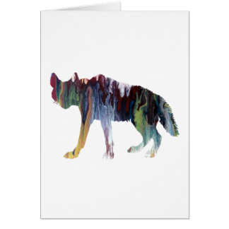 Hyena art card