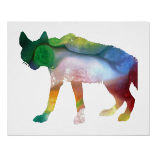 Hyena art poster