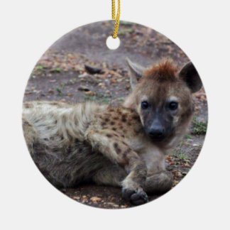 hyena ceramic ornament