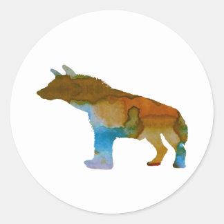 Hyena Classic Round Sticker
