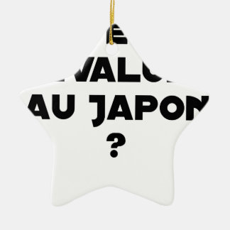 HYENA DEVALUATED IN JAPAN? - Word games Ceramic Ornament