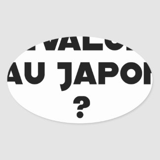 HYENA DEVALUATED IN JAPAN? - Word games Oval Sticker