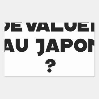 HYENA DEVALUATED IN JAPAN? - Word games Rectangular Sticker