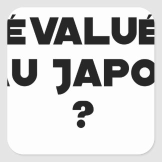 HYENA DEVALUATED IN JAPAN? - Word games Square Sticker