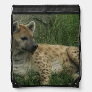 Hyena Drawstring Bag